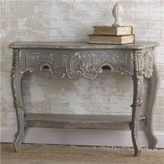 Shades of Light vintage French gray table