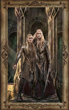 my curiosity : Photo #fanart Legolas and Thranduil