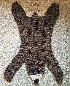 """Bear """"Skin"""" Rug. Shop link in bio. Pattern by @onepaisleypig #crochet #crochetersofinstagram #cutecrochet #crochetgreek #instacrochet #makersgonnamake #crochetbear #bearskin #crochetbysarahlouise by sarah.townsend09"""