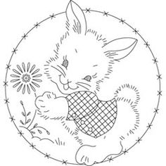 Pattern Detail | Bunny with Flower | Needlecrafter