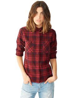 Flannel Yarn Dye Button Up Shirt | Alternative