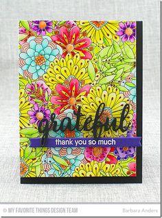 Bundles of Blossoms Background, Grateful for You, Blueprints 27 Die-namics - Barbara Anders  #mftstamps