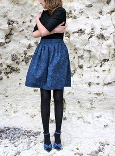 Skirt FLEUR wool skirt Liberty fabric  FW12 / by CharlotteAuzou