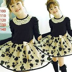 Dress black Tile Bunga Emas  sc-15243