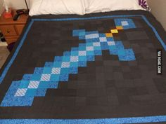 Awesome Minecraft quilt!