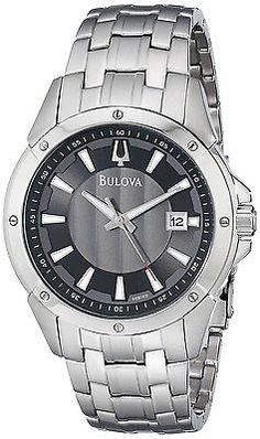Bulova-Men-039-s-96B169-Classic-round-bracelet-Watch