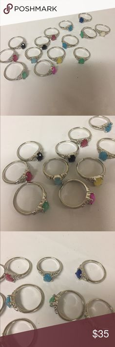 Set of 14 rings. Good to resell. Set of 14 rings. Good to resell.  New Jewelry Rings