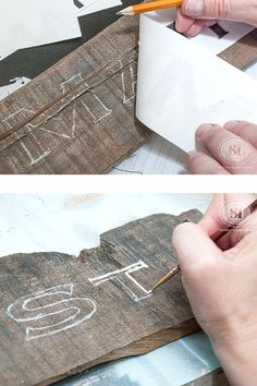 Easy DIY Wood Signs using the Most Basic Transfer Method... And NO fancy equipment or product required!