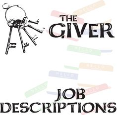the giver assignment descriptions