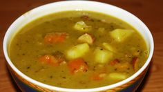 German Split Pea Soup we call in German: Erbseneintopf - This is another great soup that you will like. Authentic German recipe from Germany. Pea And Ham Soup, Pea Soup, Kale Soup, Soup And Salad, Lentil Soup, Dutch Recipes, Cooking Recipes, German Recipes, Easy Soup Recipes