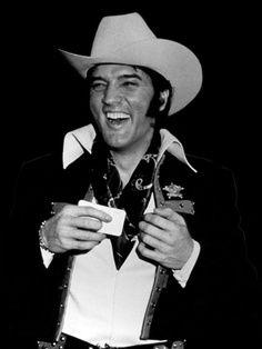 Elvis enjoyed a good laugh.