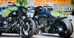 Erste Bilder der optimierten Pro Street Breakout CVO Thunderbike customized mit dem 110 Screamin´Eagle Motor und 6 Gang Getriebe gab es bei unserem Vergleich. Jetzt haben wir die herrliche Sonne genutzt um das Bike in Starfire Black noch einmal ordentlich abzulichten. Die verbauten Parts findest Du in unserem Onlineshop, die Auflistung in der Galerie.