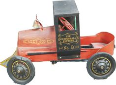 """*PEDAL CAR ~ Early Metal Casey Jones """"""""The Cannonball Express No. 9"""""""", in original condition"""