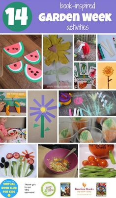 14 Garden Week Activities based on Book Activities as part of Virtual Book Club Summer Camp Preschool Garden, Preschool Themes, Preschool Learning, Toddler Preschool, Preschool Crafts, Toddler Activities, Crafts For Kids, Kindergarten Classroom, Spring Activities