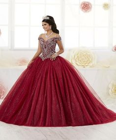 Shop for House of Wu Quince Dresses at ABC Fashion. These beautiful 2020 House of Wu ball gowns from the Quinceanera Collection are perfect for any Sweet 15 and Sweet 16 party! Quinceanera Dresses Maroon, Quinceanera Themes, Wedding Dresses, Sweet 16 Dresses, 15 Dresses, Quinceanera Collection, Mexican Dresses, The Dress, Marie