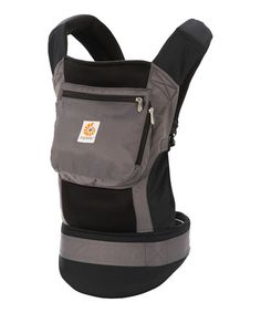 Look what I found on #zulily! Loving that it is made of mesh for the hot weather! Charcoal & Black Performance Carrier by Ergobaby #zulilyfinds