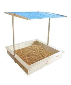 Loving this Wooden Sandbox & Canopy on #zulily! #zulilyfinds