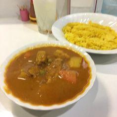 ベジタブルチキンカレー 定番メニュー 今日はお客さんが全然来ないとパパとママが嘆いてたのでみなさんドンドン食べに来てください #サイダーバ #カレー #curry  #水元 #葛飾区