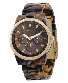 Michael Kors Women's MK5038 Ritz Tortoise Watch. http://goo.gl/Iw1PP