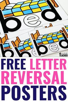 I used to wonder how to fix letter reversals like b and d and q and p. The b d letter reversal problem can be such a big one in my preschool, kindergarten and first grade classroom. These worksheets and activities give us a lot practice whole group or small group. These free printable posters can help students remember, too.