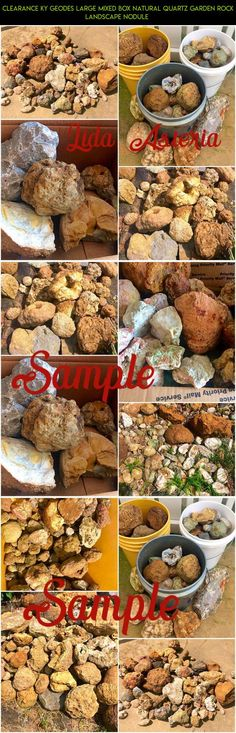 Clearance KY Geodes LARGE Mixed Box Natural Quartz Garden Rock Landscape Nodule  #fpv #parts #rocks #kit #tech #shopping #gadgets #technology #products #gardening #racing #plans #camera #drone