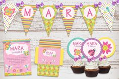 Kit Imprimible Mariposas Libélulas Cumpleaños Nena: