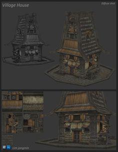 Tutorial book's House modeling, Lim JongMin on ArtStation at https://www.artstation.com/artwork/tutorial-book-s-house-modeling