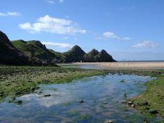 Threecliff Bay Gower Peninsula, Cymru, Swansea, South Wales, Cliff, Spaces, Pets, Beach, Fathers