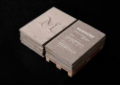 Incredible idea for business cards presented as natural stones, designed and created by Murmure.
