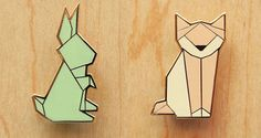 Accessories should never be underestimated and these beauties from Hug A Porcupine are simply divine. Origami style animal brooches (see the cat and rabbit above) are showcased in amazing detail and the rabbit is even available in necklace form - Babyology