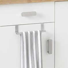 "Over-Cabinet Towel Bar Stainless Steel  9""W x 3.25""H x 2.5""D   