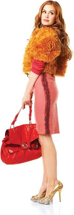 ISTO� Gente ::Figurino de uma consumistaCriadora do estilo de sex and the city e o diabo veste prada, a americana Patricia Field foi buscar no Jap�o a inspira��o para o visual da protagonista do novo os del�rios de consumo de Becky Bloom:: Celebridades