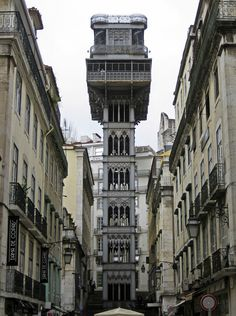 The Santa Justa Lift in Lisbon, Portugal