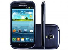 "Smartphone Samsung Galaxy S3 Mini 3G Android 4.2 - Câm. 5MP Tela 4"" Super Amoled Proc. Dual Core"