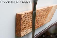 Messerblöcke - Messer Magnetleiste Olivenholz Natur - ein Designerstück von chopnhustle bei DaWanda