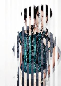 Fashion designer / artist Eugenialejos A Dixit Collection Look book - sliced photographs