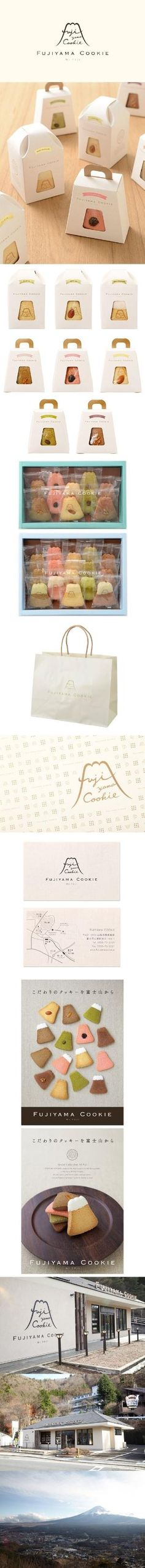 FUJIYAMA COOKIE / logo / package / shop card / poster / sign / FROM GRAPHIC by stefanie