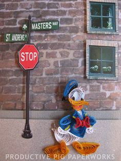 Donald Duck Quilling