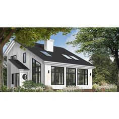 7352 Construction-Ready Modern Lake House Plan with Basement Foundation Printed Sets) Basement House Plans, Lake House Plans, Cottage House Plans, Small House Plans, Cottage Homes, Floor Plan With Basement, Micro House Plans, Retirement House Plans, Round House Plans