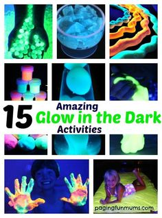 So many awesome ideas here! Great for a glow in the dark party or just to make the kids evenings super fun!