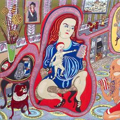 Grayson Perry's 'The Vanity of Small Differences' [Detail of centrepiece].