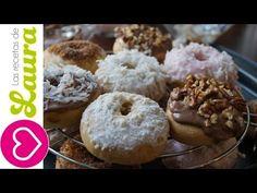 Receta de Donas horneadas Recetas Saludables Low fat donuts recipe - YouTube