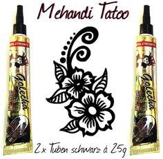 2 x Henna Paste schwarz in Tuben á 25g für Mehndi Tatoo - Klinisch getestet!