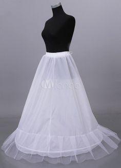 Jupon nuptial femme blanc, filet double couche