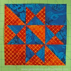 Learn how to make a Massachusetts quilt block (a close relative of the Ohio Star) or choose another from our Free Quilt Block Patterns library.
