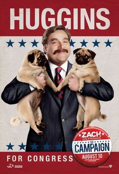 Zach Galifiianakis stars as Marty Huggins in 'The Campaign'
