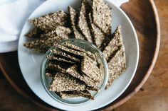 (gluten-free, vegan, paleo) Ultimate seed crackers. A crunchy and nutrient-dense cracker perfect for dips.