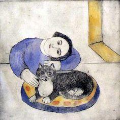 Nicola Slattery, 'Woman with Cat'via
