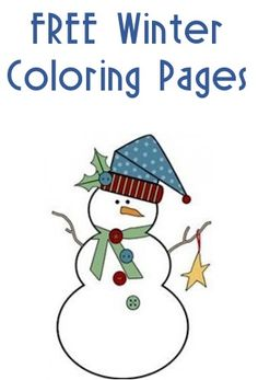 40 Fun Crafts for Kids! {Must-Have Kid Activities} - The Frugal Girls - FREE Winter Coloring Pages for Kids! Christmas Coloring Pages, Coloring Book Pages, Printable Coloring Pages, Coloring Sheets, Free Coloring, Coloring Pages For Kids, Kids Coloring, Winter Fun, Winter Theme