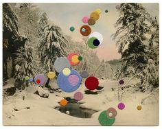 Julie-Cockburn,-Snow-Balloons,-2016,-Hand-Embroide